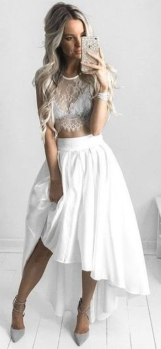#summer #warm #weather #outfits |  Grey + White