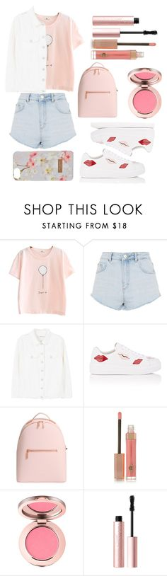 """Ulzzang 16"" by naruto-sabrahummus ❤ liked on Polyvore featuring Topshop, MANGO, Prada, Ted Baker, Charlotte Tilbury and Too Faced Cosmetics"