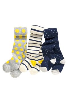 Buy Navy Spot And Stripe Tights Three Pack (0mths-6yrs) from the Next UK online shop