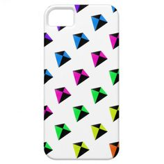 Multicolored Diamond Shaped Kites Pattern iPhone 5 Covers