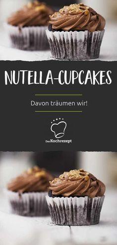 Nutella Cupcakes, Nutella Muffin, Kakao, Sweets, Baking, Breakfast, Recipes, Heaven, Food
