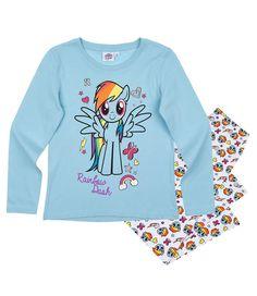 Hasbro My Little Pony Girls Long Sleeve Pyjamas Set 100% Cotton 3-10 years  - Turquoise 3c9e1197d