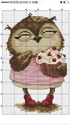 New Embroidery Funny Needlework 47 Ideas Cross Stitch Owl, Cross Stitch Animals, Cross Stitch Charts, Cross Stitch Designs, Cross Stitching, Cross Stitch Embroidery, Embroidery Patterns, Cross Stitch Patterns, Funny Embroidery