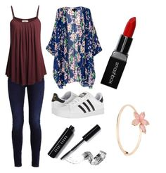 """""""Nala-Rose"""" by queen1997nat on Polyvore featuring adidas, Smashbox and Bobbi Brown Cosmetics"""
