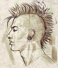 Punk Face Profile Proportions Study by ElephantWendigo.deviantart.com on @deviantART