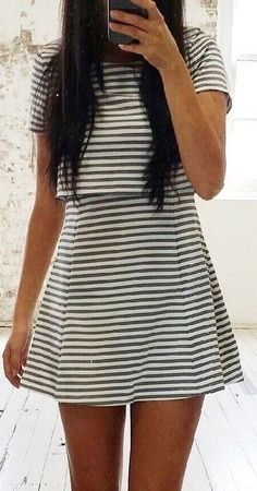#fall #jane #lu #outfits | Stripe Two Piece Set