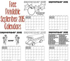 Printable September 2015 Calendars - If you are looking for a fun and creative way to keep track of important dates in September, print out one or more of these calendar pages. (http://www.holiday-favorites.com/printable-september-calendars/)