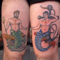 mermen tattoo - Google Search