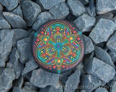 Welcome to the world of beautiful Mandalas! Rock Painting Patterns, Dot Art Painting, Mandala Painting, Pebble Painting, Pebble Art, Mandala Art, Stone Painting, Seashell Painting, Mandala Painted Rocks