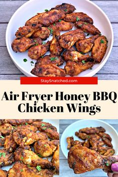 These Easy Honey BBQ Chicken Wings are a quick recipe for crispy and crunchy wings made in the oven. If you are a fan of KFC, Buffalo Wild Wings, Applebees then you will love these! Bbq Fried Chicken, Honey Bbq Chicken Wings, Air Fryer Chicken Wings, Best Chicken Wing Recipe, Chicken Wing Recipes, Buffalo Wild, Air Fryer Healthy, Cooking Recipes, Healthy Recipes