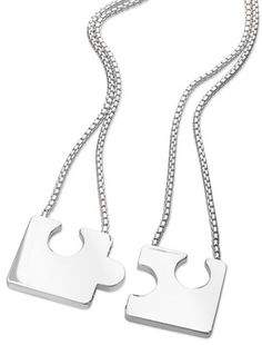 Twins Joining Jigsaw Pendant - two for one Twin Sisters, Dog Tag Necklace, Mothers, Personalized Gifts, Twins, Unique Gifts, Pendant, Shopping, Customized Gifts