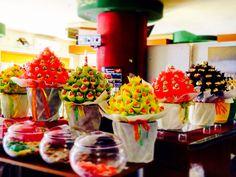Sweet candy bouquet. Marsmallows. Krats krouts