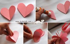 kids craft for valentine's day Kids Crafts, Diy And Crafts, Valentines Day Decorations, Valentine Crafts, Heart Tree, Paper Hearts, Mother Day Gifts, Diy Art, Art Lessons