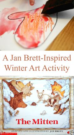 This Jan Brett inspired winter art activity builds off of her book The Mitten. A fun art activity and game for toddlers and preschoolers!