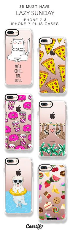 35 Must Have Lazy Sunday iPhone 7 Cases and iPhone 7 Plus Cases. More Weekend iPhone case here > https://www.casetify.com/collections/top_100_designs#/?vc=LdoKec9w1s