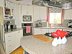 a white and fresh kitchen makeover anniehearts.com