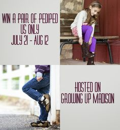 Win a pair of shoe from Pediped hosted on @GrowinUpMadison perfect for Back to School. US - Ends 8/12