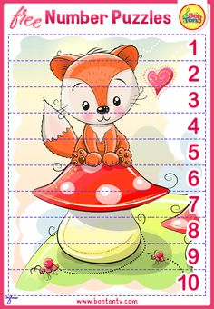 FREE Number Puzzles - Preschool Printables for Kids - Learning Numbers, Counting - Fun Math Activities and Worksheets for Homeschooling, Kindergarten and Grade 1 - by BonTon TV Free Preschool, Preschool Printables, Free Math, Number Puzzles, Puzzles For Kids, Numbers For Kids, Numbers Preschool, Abc Crafts, Fun Math Activities