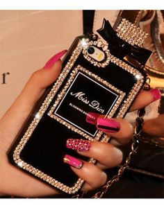 paris chanel bag perfume bottle phone case miss dior rhinestone diamonds iphone case iphone 5 case
