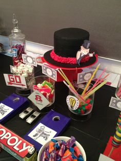 """""""Monopoly"""" themed kids party styled by Once Upon A Table events"""