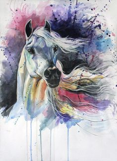 Press visit link above for more options dessin saskia watercolor horse, art, horse Watercolor Horse, Watercolor Art Diy, Watercolor Art Paintings, Watercolor Animals, Painting & Drawing, Watercolor Artists, Watercolor Sketch, Watercolor Tattoo, Horse Drawings