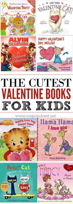 The cutest Valentine books for kids that kids will love. 25 Valentine& Day books that make the best Valentine& day gift ideas for kids. Valentines Day Book, Kinder Valentines, Valentines Day Activities, Valentine Day Crafts, Valentine Gifts For Toddlers, Valentine Ideas, Valentines Ideas For Babies, Valentine Baskets, Valentine Theme