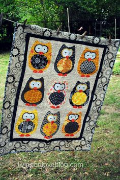Living on Love......I have GOT to make this quilt for the girls room!!! : ) I love the owls!