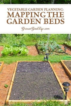 Mapping your vegetable garden before planting will help you see how many seedlings you need, where they will be planted, and how you can keep each bed producing all through the growing season. Vegetable Garden Planner, Vegetable Garden For Beginners, Backyard Vegetable Gardens, Gardening For Beginners, Herb Garden, Garden Landscaping, Gardening Tips, Fairy Gardening, Gardening Supplies