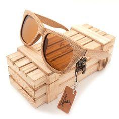 BOBO BIRD Wooden Mirror Polarized Sunglasses