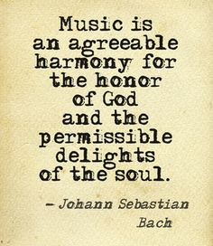 Johann Sebastian Bach.....vs the chaotic noise that some listen to