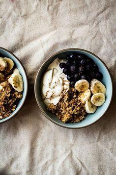 breakfast parfait Healthy Breakfast Recipes, Healthy Snacks, Snack Recipes, Healthy Recipes, Dinner Healthy, Eating Healthy, Clean Eating, Diet Recipes, Healthy Living