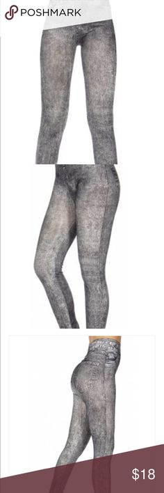 Pencil riding cotton leggings. Beautiful gray stretchy leggings. Great for fall. Lots of Gray tops on here! Pants Leggings