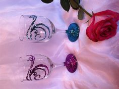 My glitter wine glasses...