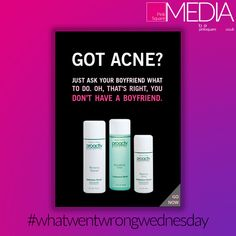 Playing on people's insecurities is a strategy commonly employed by skincare companies. However, we feel Proactiv took it one step too far in this advert! What do you think? Real Estate Advertising, Advertising Design, Social Media Marketing, Digital Marketing, Insecurities, Web Design Services, Free Quotes, Say Hi, First Step