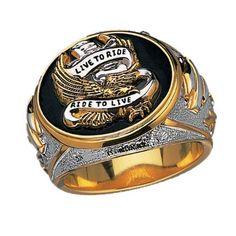Sterling Silver Harley-Davidson Men's Live To Ride Ring http://bikeraa.com/sterling-silver-harley-davidson-mens-live-to-ride-ring/