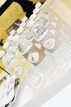 Make Personalized Wedding Labels for Water Bottles