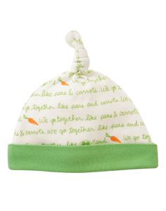We Go Together Like Peas and Carrots Beanie at Gymboree (Gymboree 0-24m)