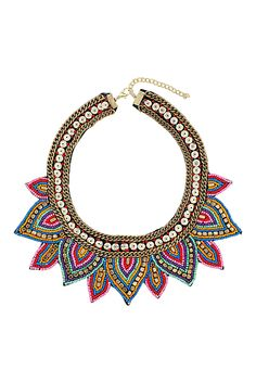 Mixed Bead Chain Collar Necklace