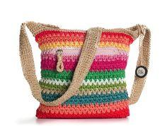 The Sak Classic Crochet Cross Body Bag - Tan Multicolor - Polyvore www.polyvore.com