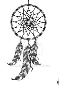 Dreamcatcher tattoo design by RozThompsonArt on DeviantArt
