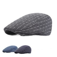 Men Cotton Stripe Plaid Grid Beret Hat Buckle Adjustable Golf Driving Flat Cabbie Newsboy Beret Cap is hot sale on Newchic. Leather Hats, Pu Leather, Mens Newsboy Hat, News Boy Hat, Hats For Men, St Kitts And Nevis, Caps Hats, Latest Fashion Trends, Unisex