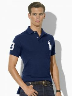 Polo Ralph Lauren Men's Custom Fit Big Pony Navy White #Ralph Lauren#Polo