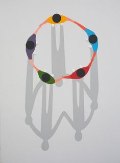 The #abstract #paintings of Geoff McFetridge  more at @dcwdesign blog #illustration #art #design #jackspade