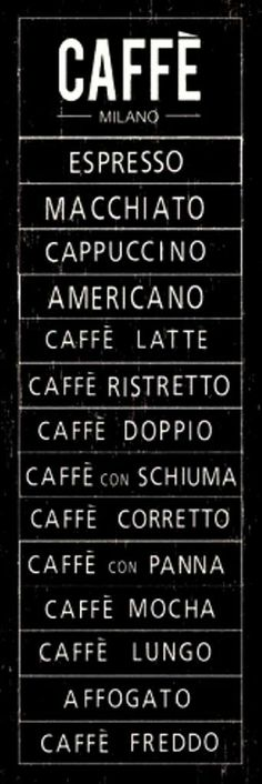 Italian coffee is the best in the world.