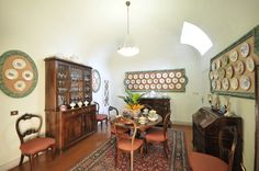 Room of Porcelain, Viti Palace Museum, Volterra, Tuscany, Italy