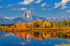 Autumn Peak at Oxbow Bend in Grand Teton National Park by Greg Norrell #Tetons #nature #photography