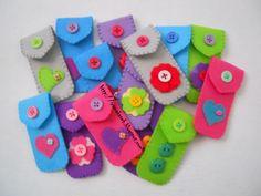 felt crafts   14pcs penDrive caSe untuk cikgu2 sekolah...