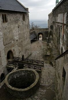 courtyard - medieval castle More