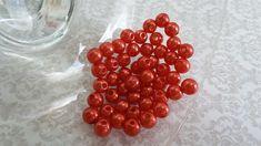 Perola ABS vermelho cherry 6mm