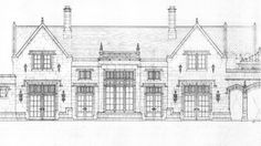 Duncan's design projects range from traditional churches, resort buildings & new urbanism - to estates, custom houses, beach houses & interior design. English Architecture, Architecture Concept Drawings, Historical Architecture, Beautiful Architecture, Architecture Details, Architect Drawing, Tudor Style Homes, Villa, House Sketch